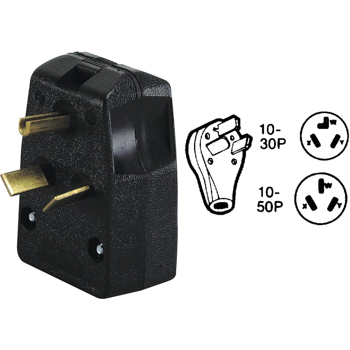 RANGE/DRYER PLUG - R50-287 by Leviton Mfg Co