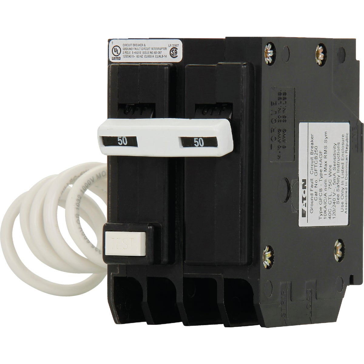 50A Gfi Circuit Breaker