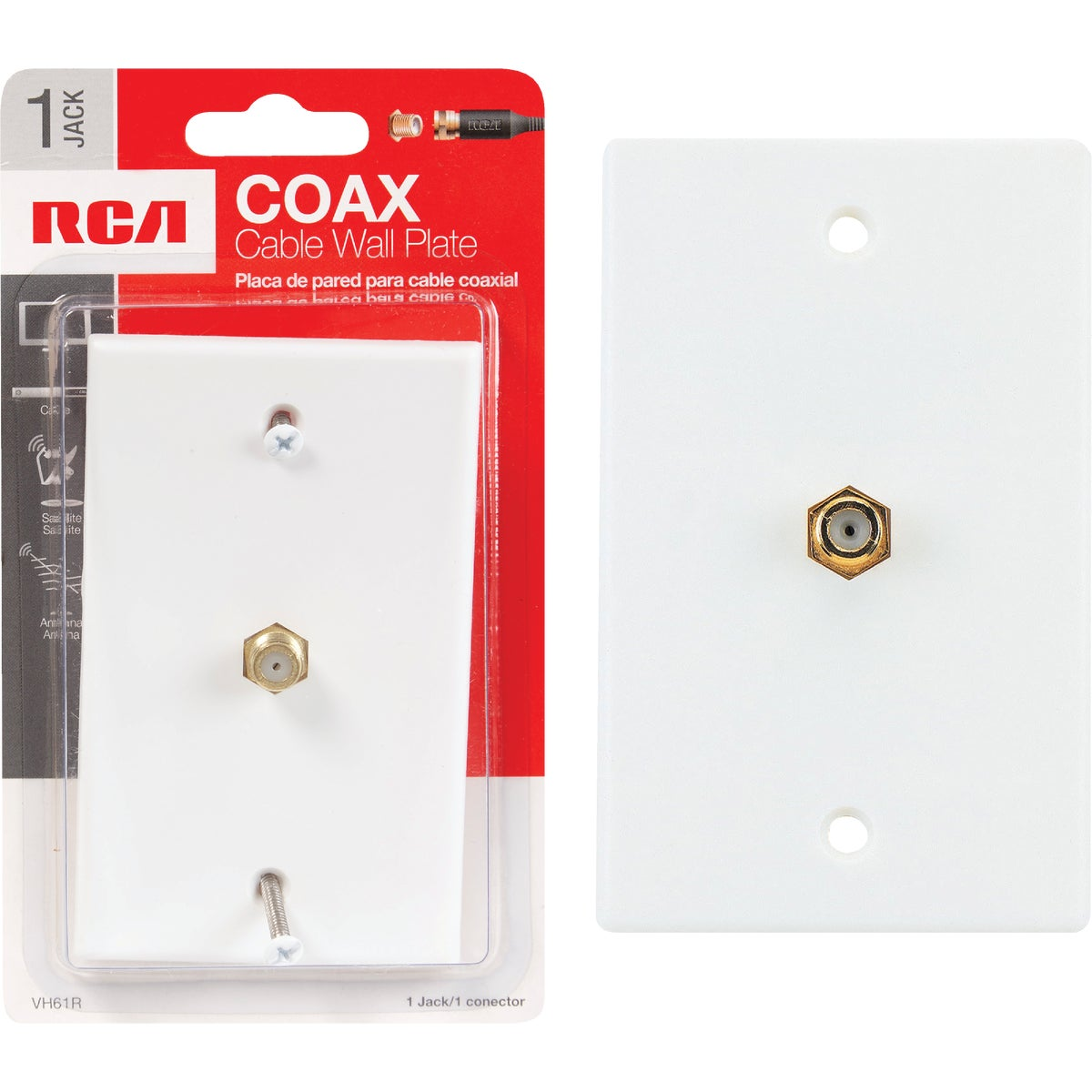 WHT COAXIAL WALL PLATE