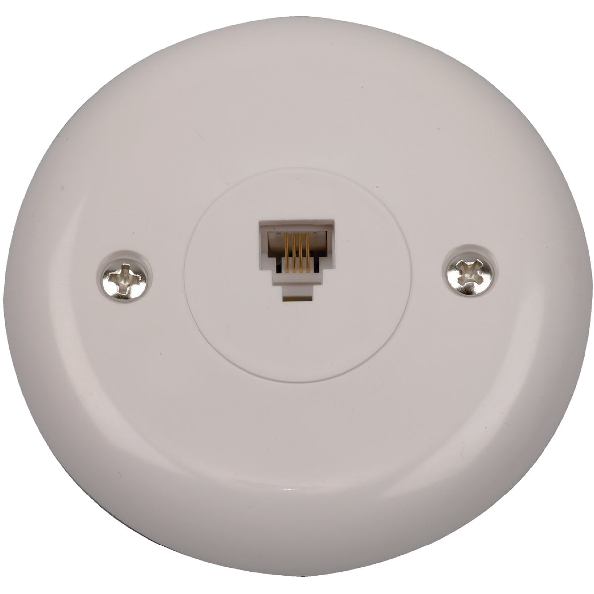 WHT ROUND PHONE JACK - TP248WHRV by Audiovox Accessories
