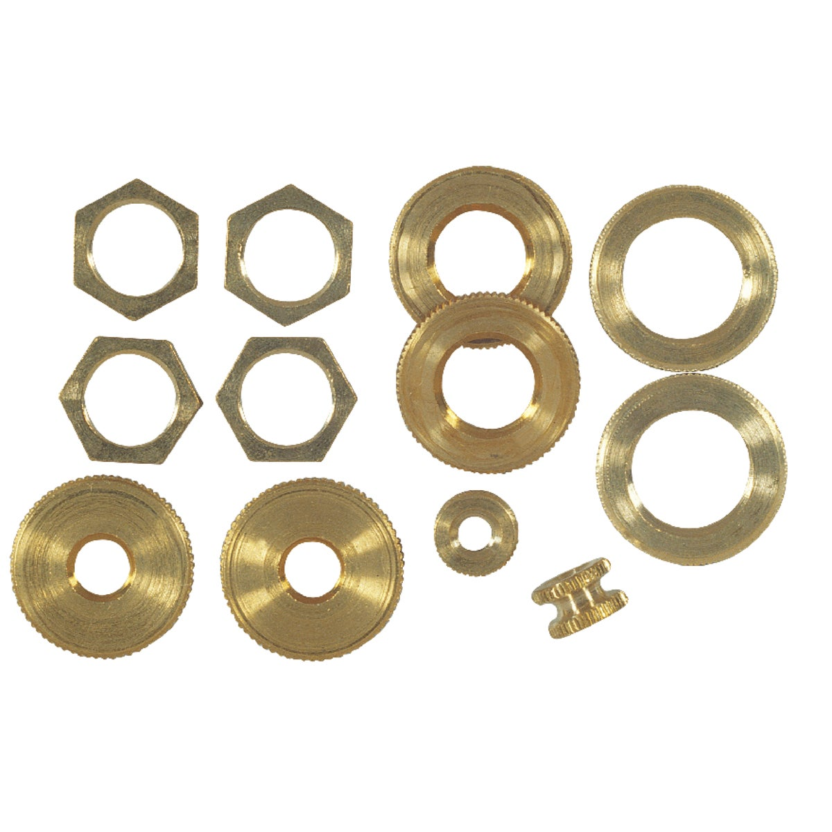 ASSORTED BRASS LOCKNUTS