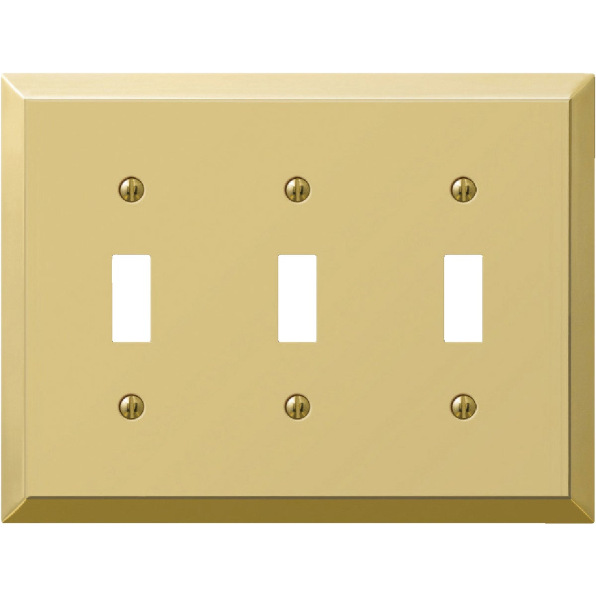 BRS 3-TOGGLE WALL PLATE - 9BS103 by Jackson Deerfield Mf