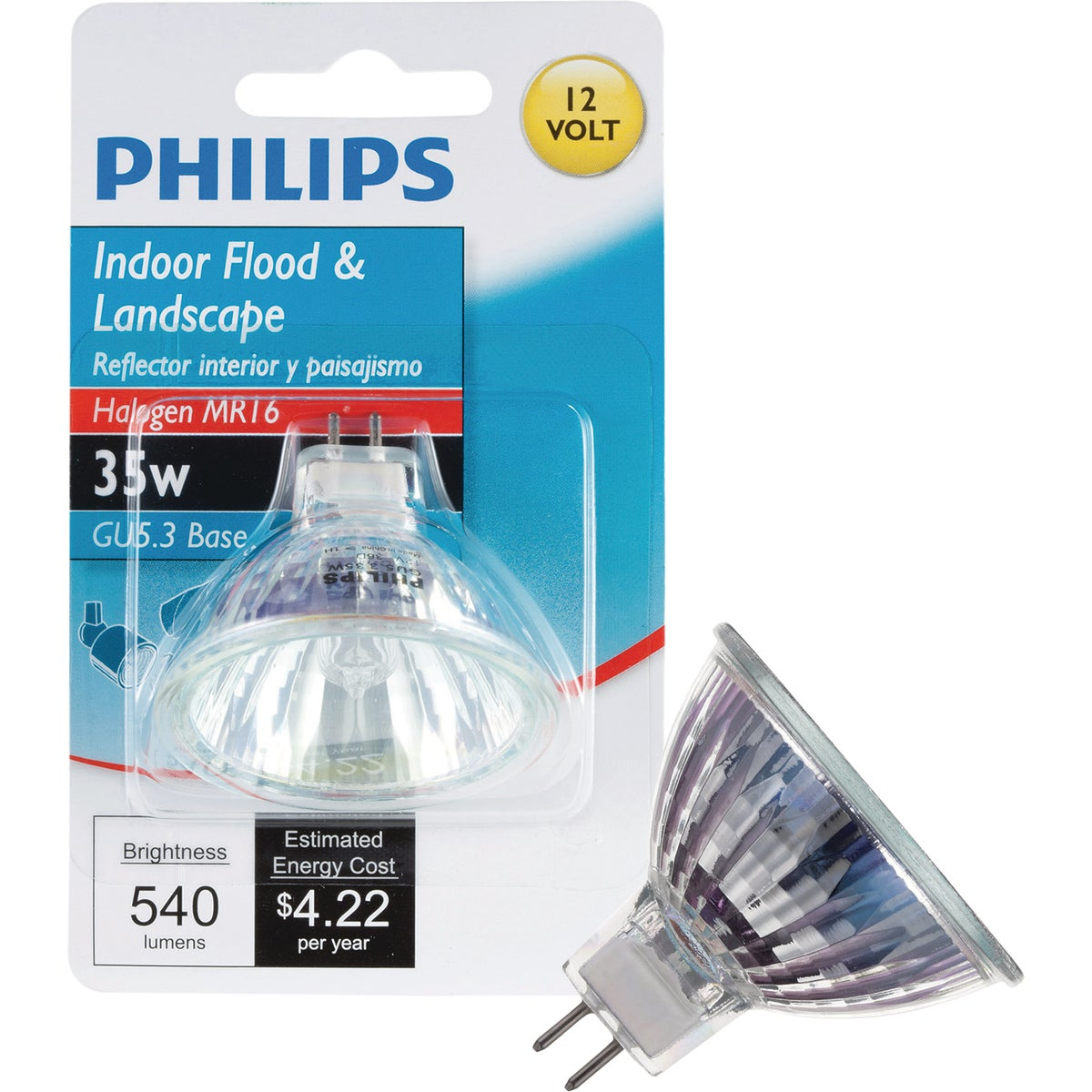 35W MR16 HLGN FLOOD BULB - 77911 Q35MR16HIRCG35CD by G E Lighting