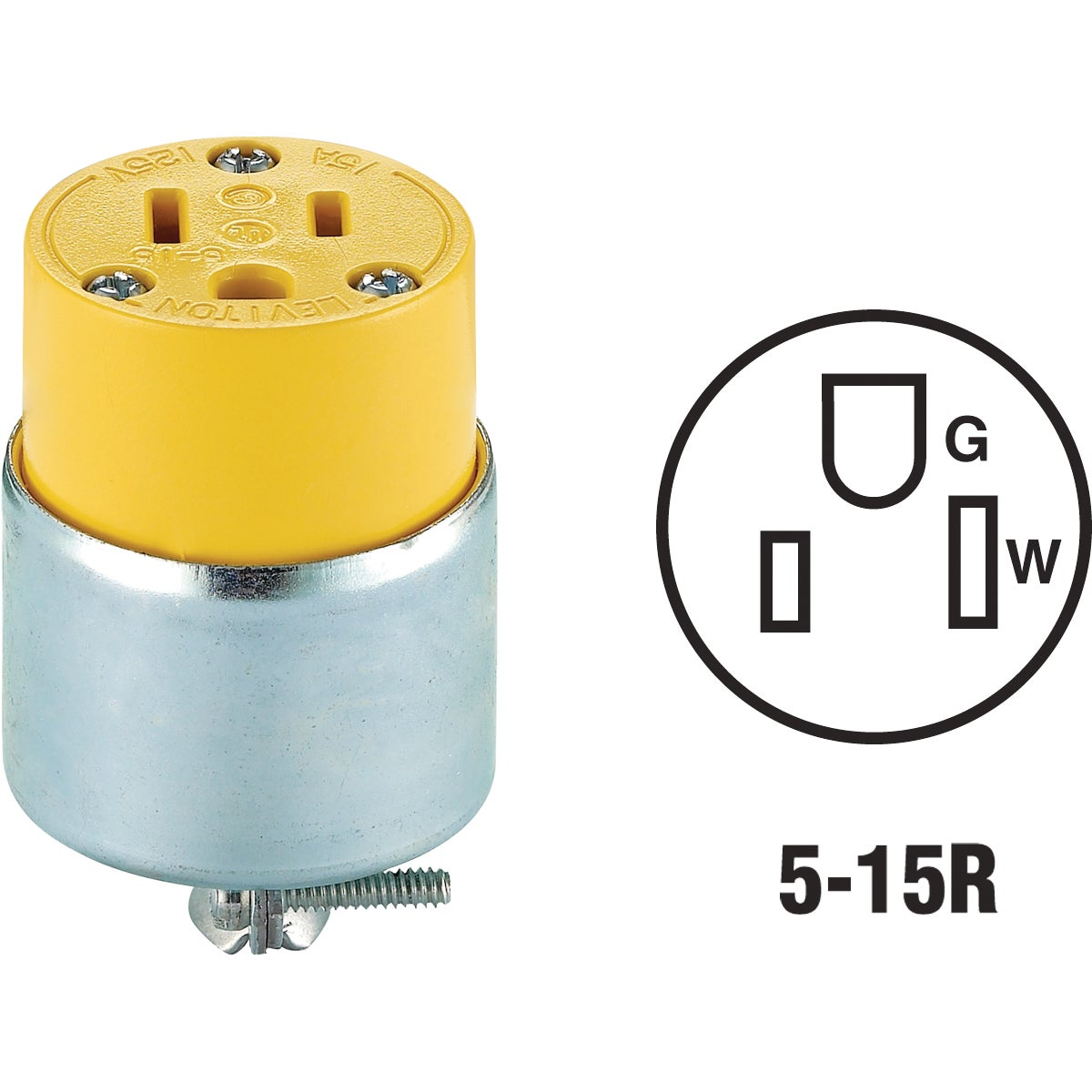 YEL ARMORED CONNECTOR - 875515CA by Leviton Mfg Co