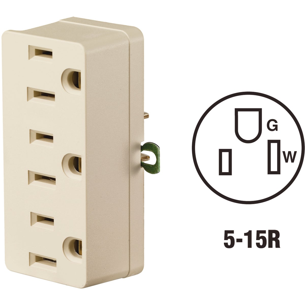 3-TO-2 TRIPLE TAP - 698I by Leviton Mfg Co