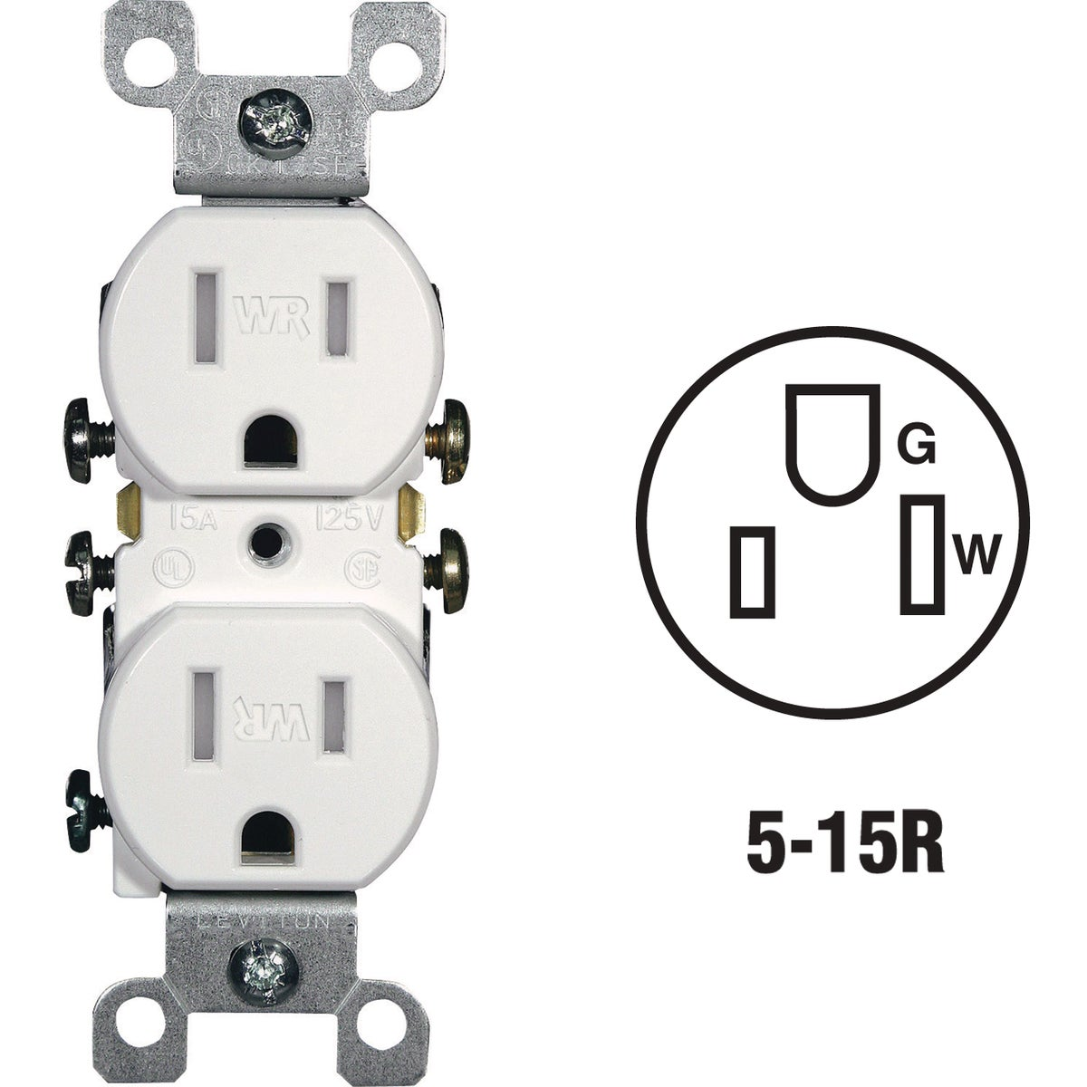 WHI WEATHRPRF TAMP OUTLT - R62-W5320-T0W by Leviton Mfg Co