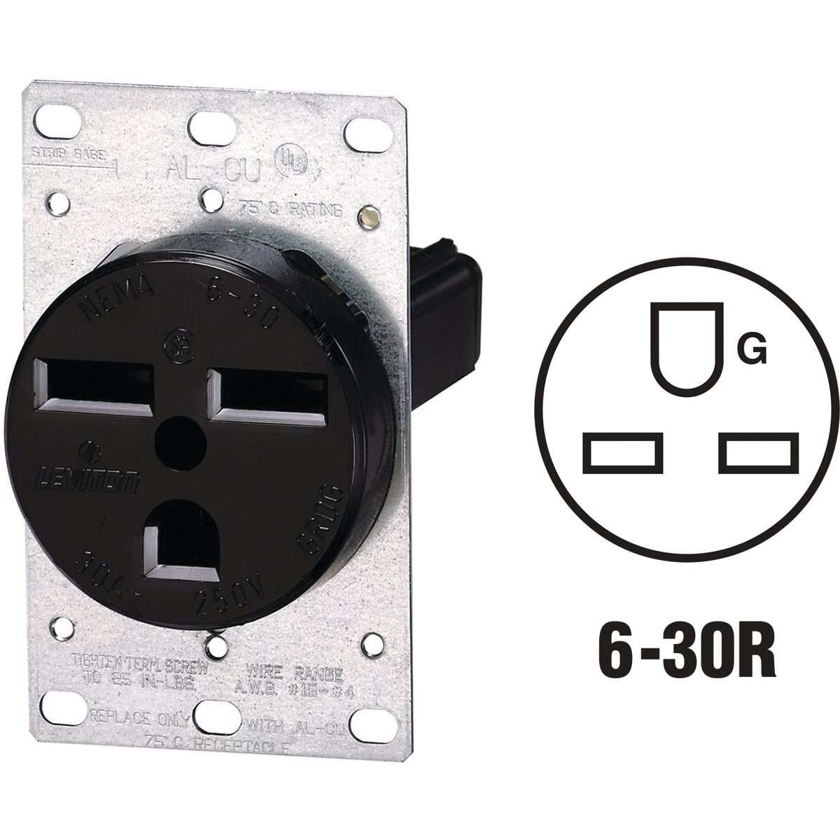 FLUSH OUTLET - R60-5372 by Leviton Mfg Co
