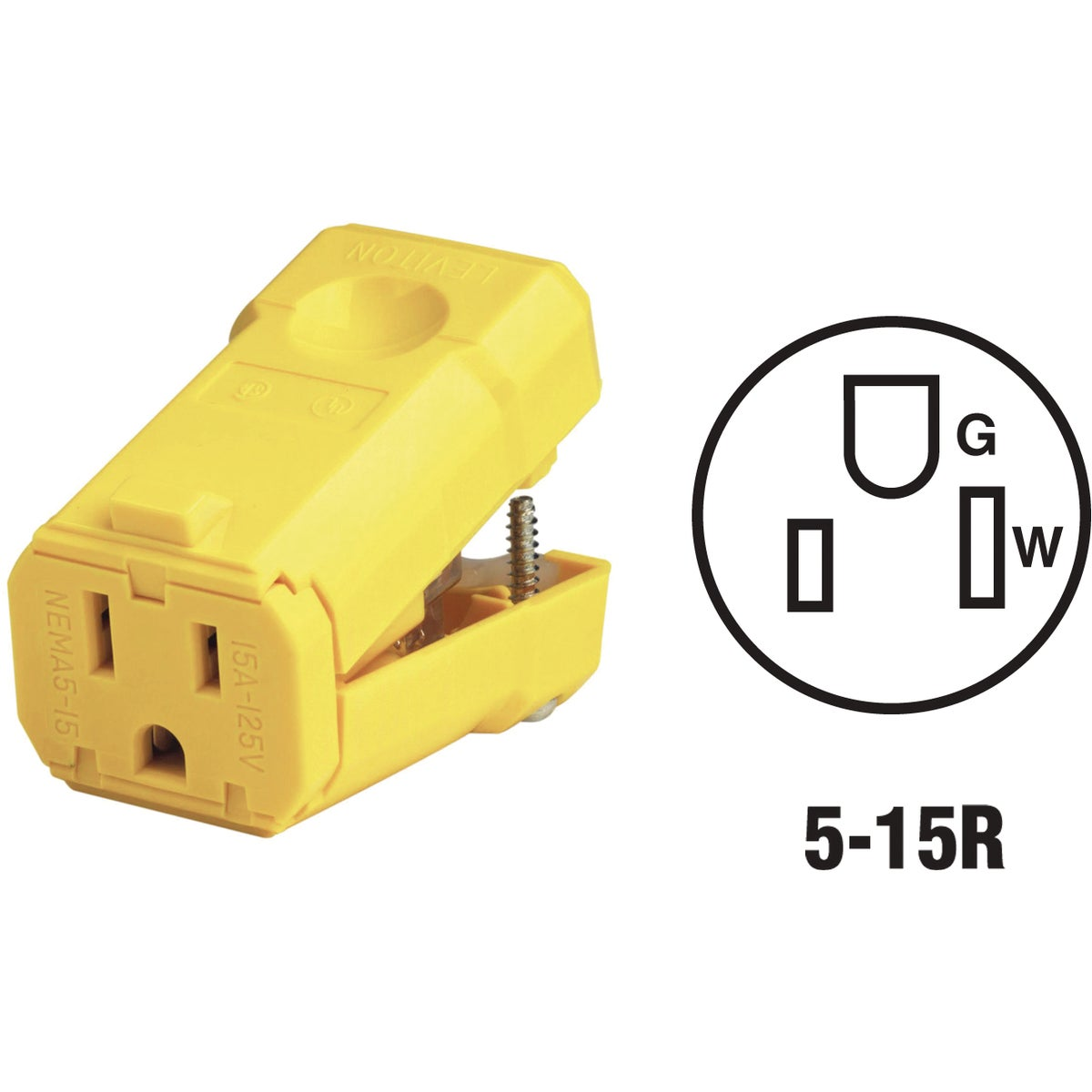 15A GRND CORD CONNECTOR - 5259VY by Leviton Mfg Co