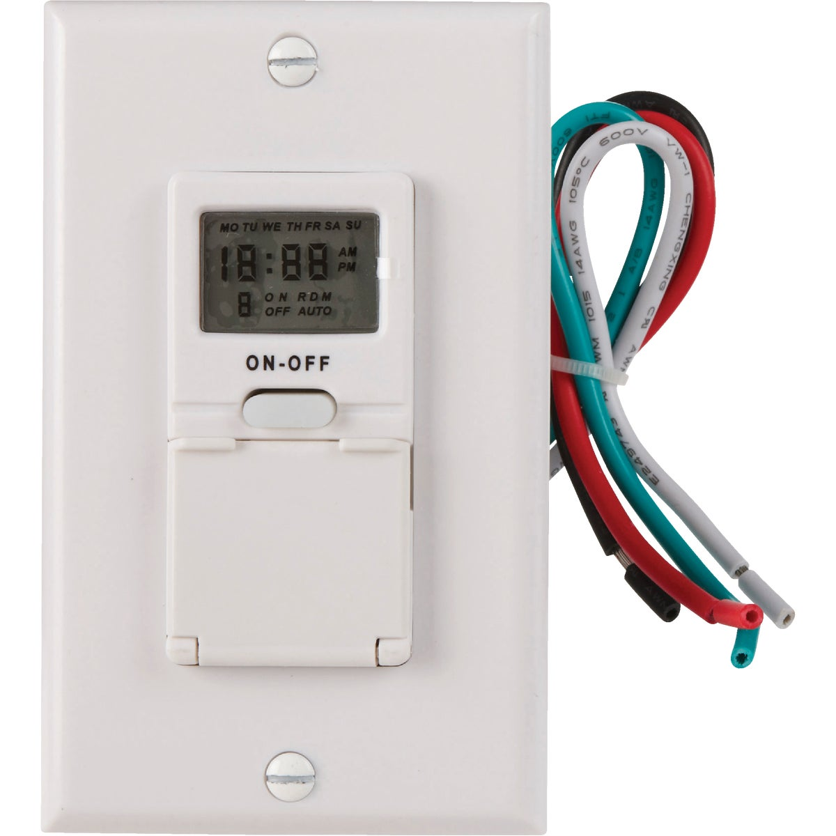 7DAY IN-WALL DIG TIMER - 59018 by Woods Wire Coleman