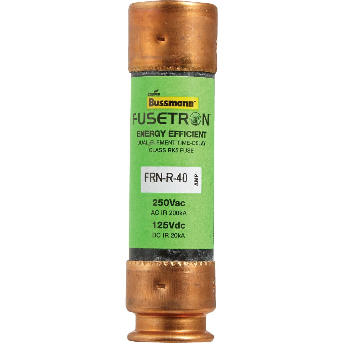 40A CARTRIDGE FUSE - FRN-R-40 by Bussmann Cooper