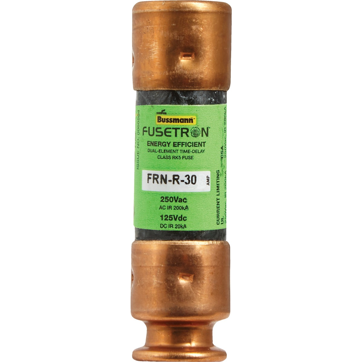 30A CARTRIDGE FUSE - FRN-R-30 by Bussmann Cooper