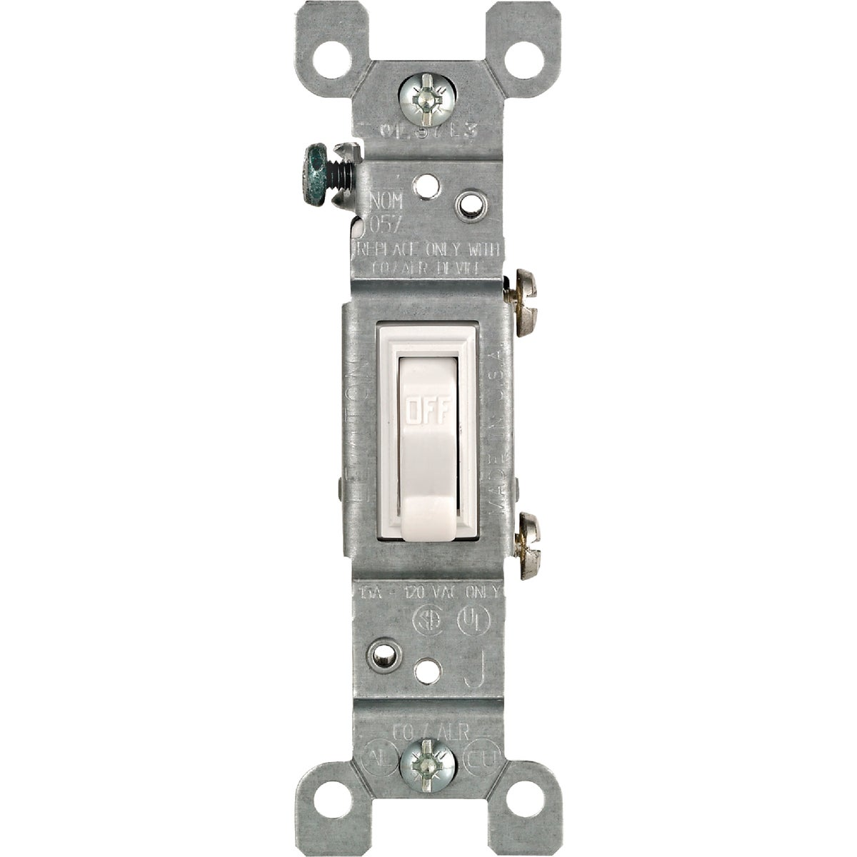 WHITE COPPER/ALUM SWITCH - 208-2651-2W by Leviton Mfg Co