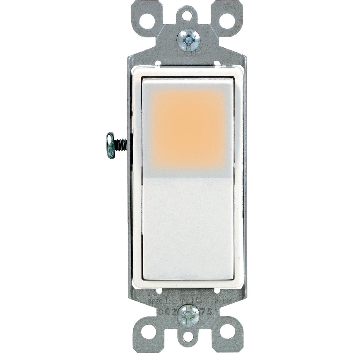 WHT 1POLE GRND SWITCH - S02-5611-2WS by Leviton Mfg Co