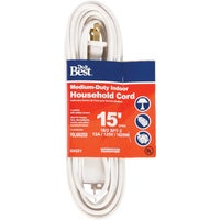 Woods Import 15' 16/2 WHITE EXT CORD IN-PT2162-15X-WH