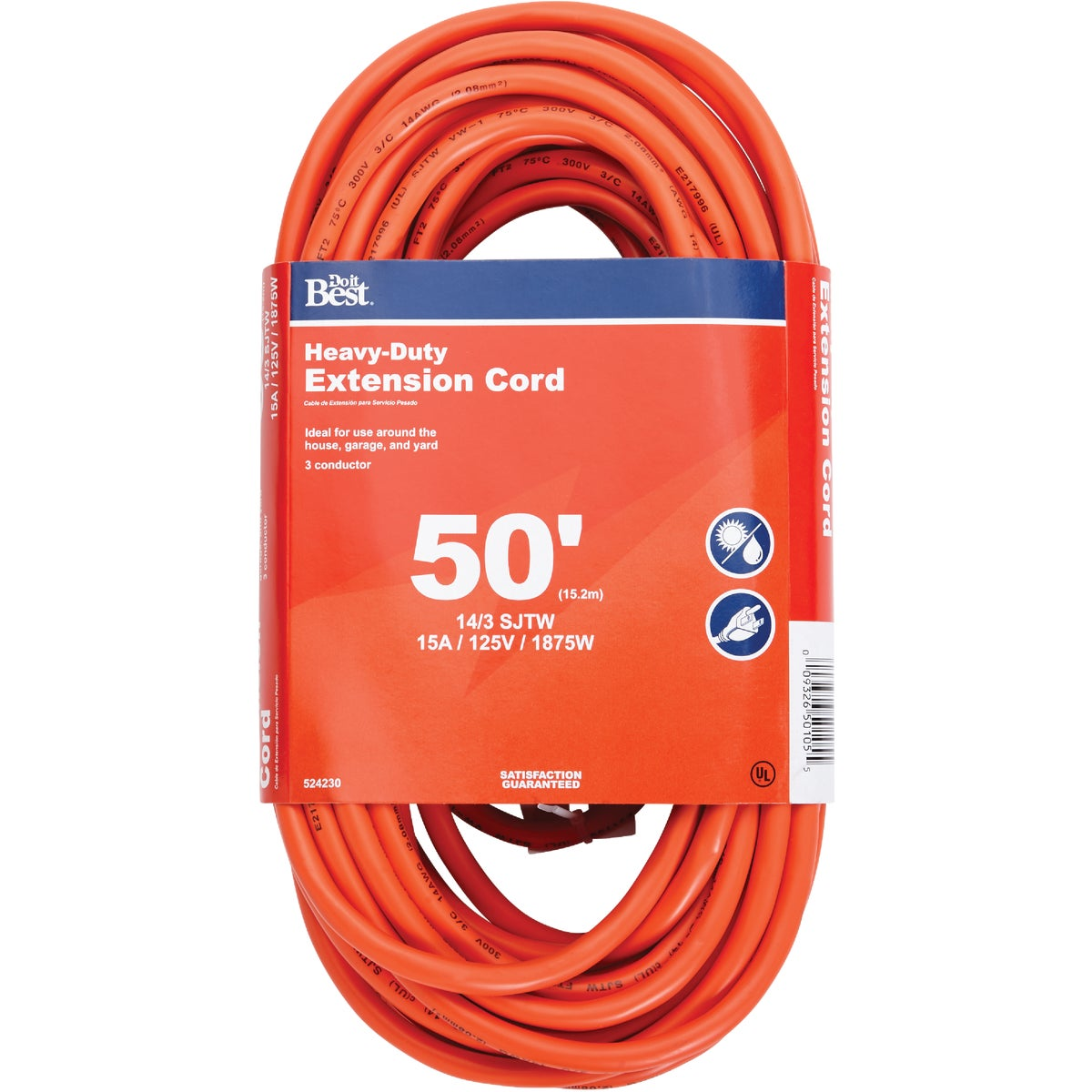 50' 14/3 OUTDOOR CORD - 550626 by Coleman Cable Import