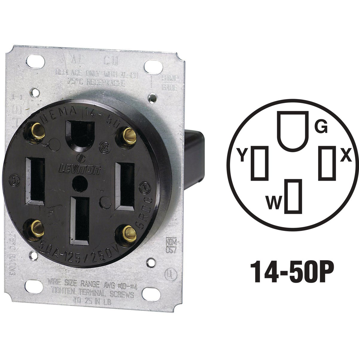 FLUSH RANGE OUTLET - R50-279 by Leviton Mfg Co