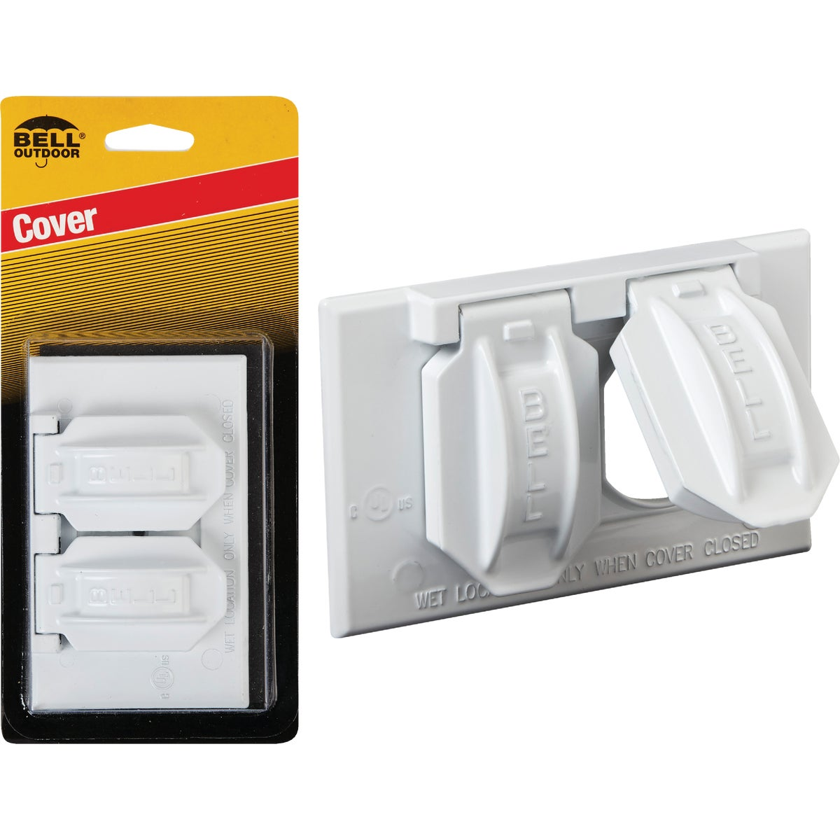WHT OUTDOOR OUTLET COVER
