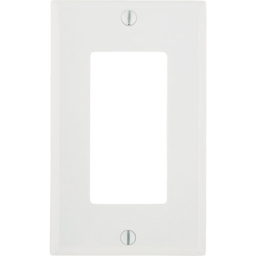 Leviton 80401-W 1-Gang Decora/GFCI Device Decora Wallplate, Standard Size, Th...