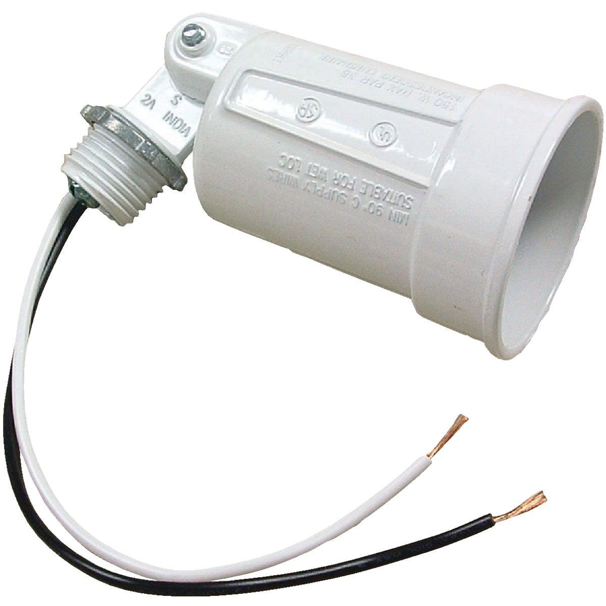 Bell 150W PAR38 White Single Bulb Weatherproof Outdoor Lampholder, Carded