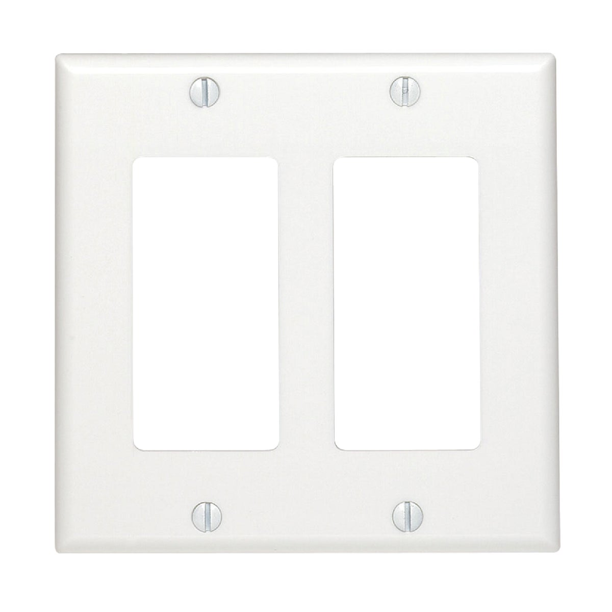 WHT 2-GFI WALL PLATE - 80409W by Leviton Mfg Co