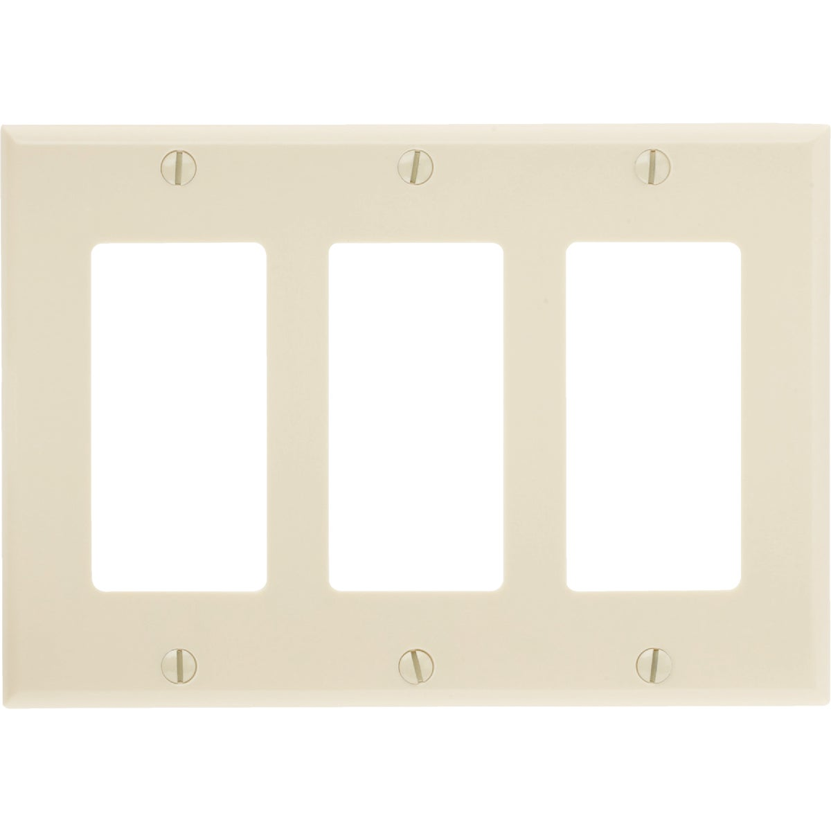 IV 3-ROCKER WALL PLATE - 80411I by Leviton Mfg Co