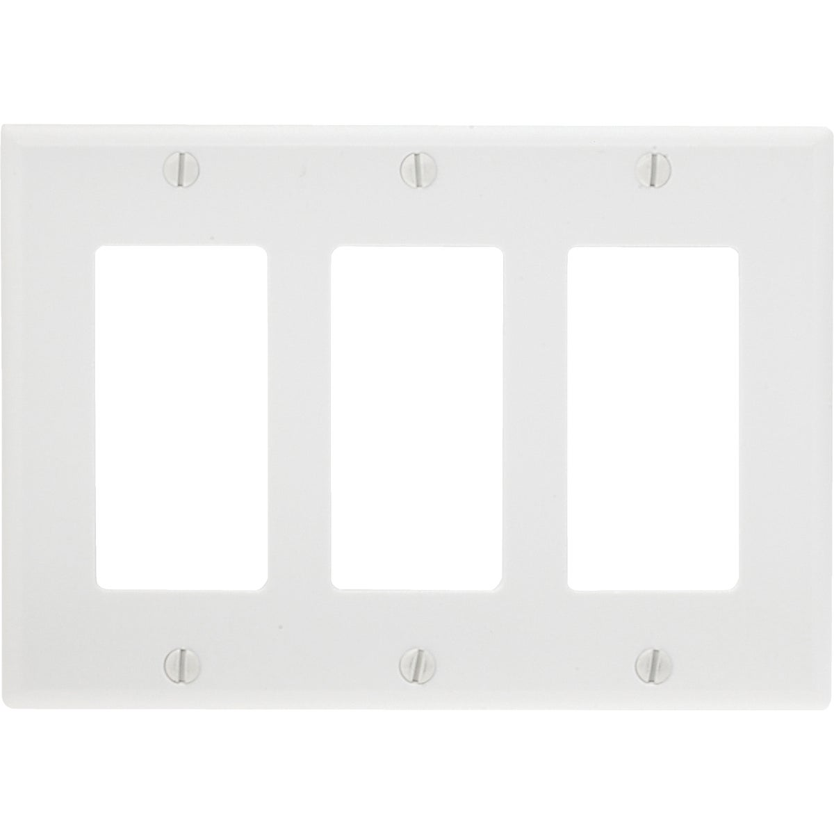 WHT 3-GFI WALL PLATE - 80411W by Leviton Mfg Co