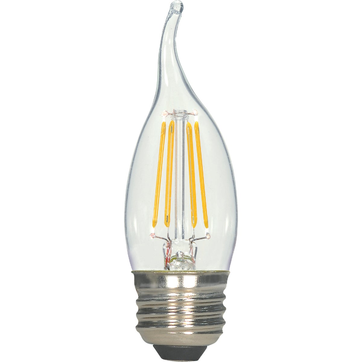 GE Lighting 2W WH FLAM TIP LED BULB 76453 LED2CAM/W/TP