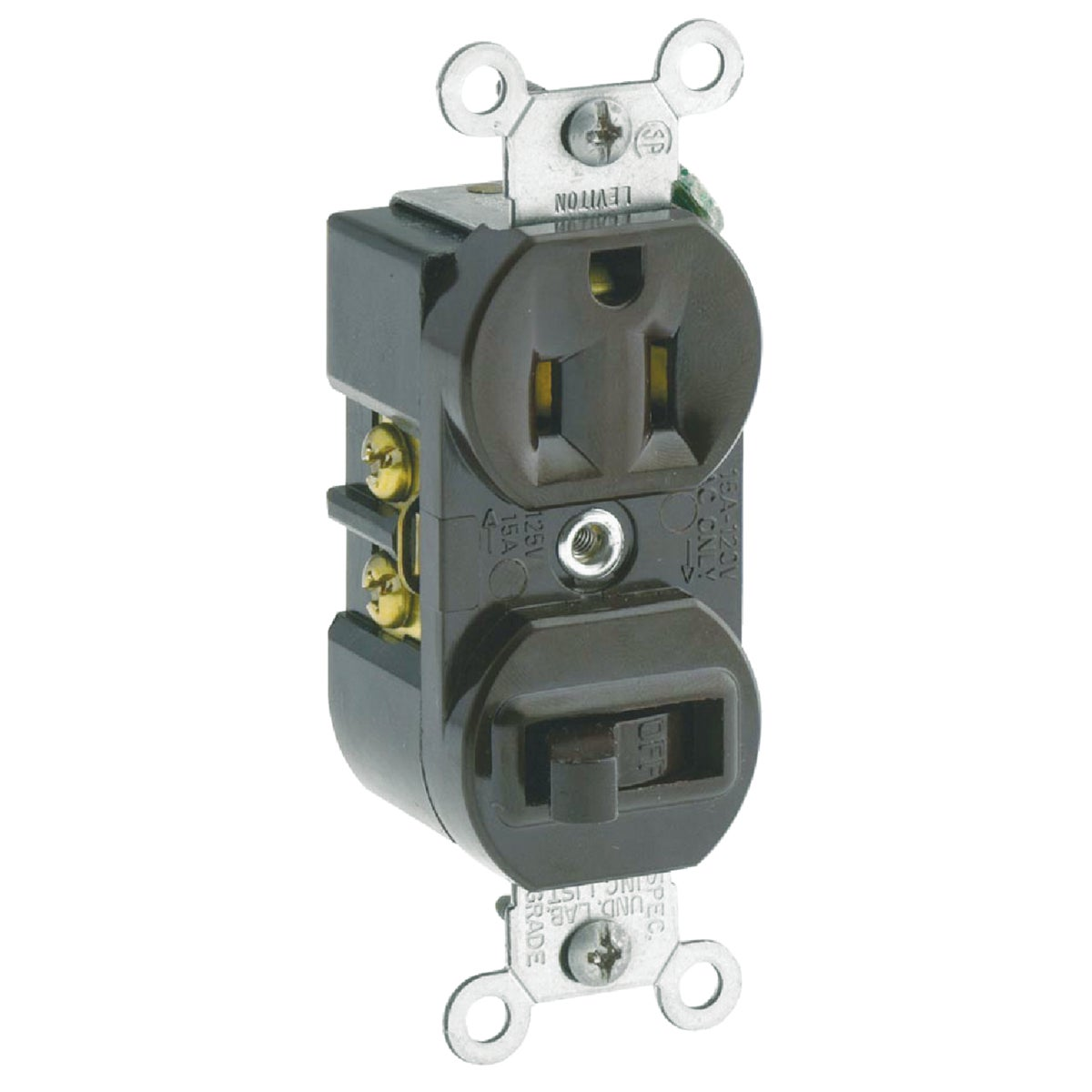 BRN SWITCH/OUTLET - S00-5225-00S by Leviton Mfg Co