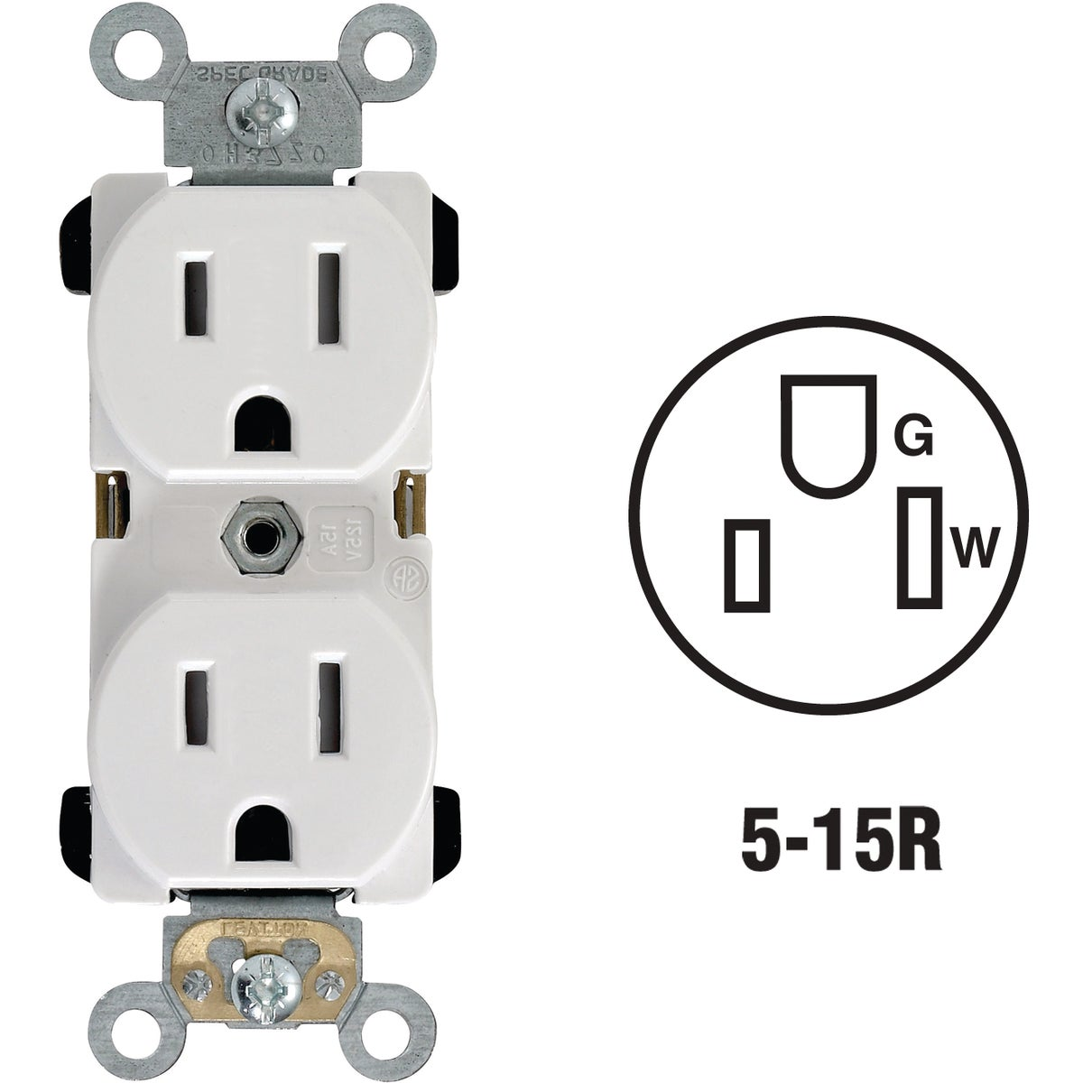 15A WHITE TAMP RES RECEP - S12-TBR15-00W by Leviton Mfg Co