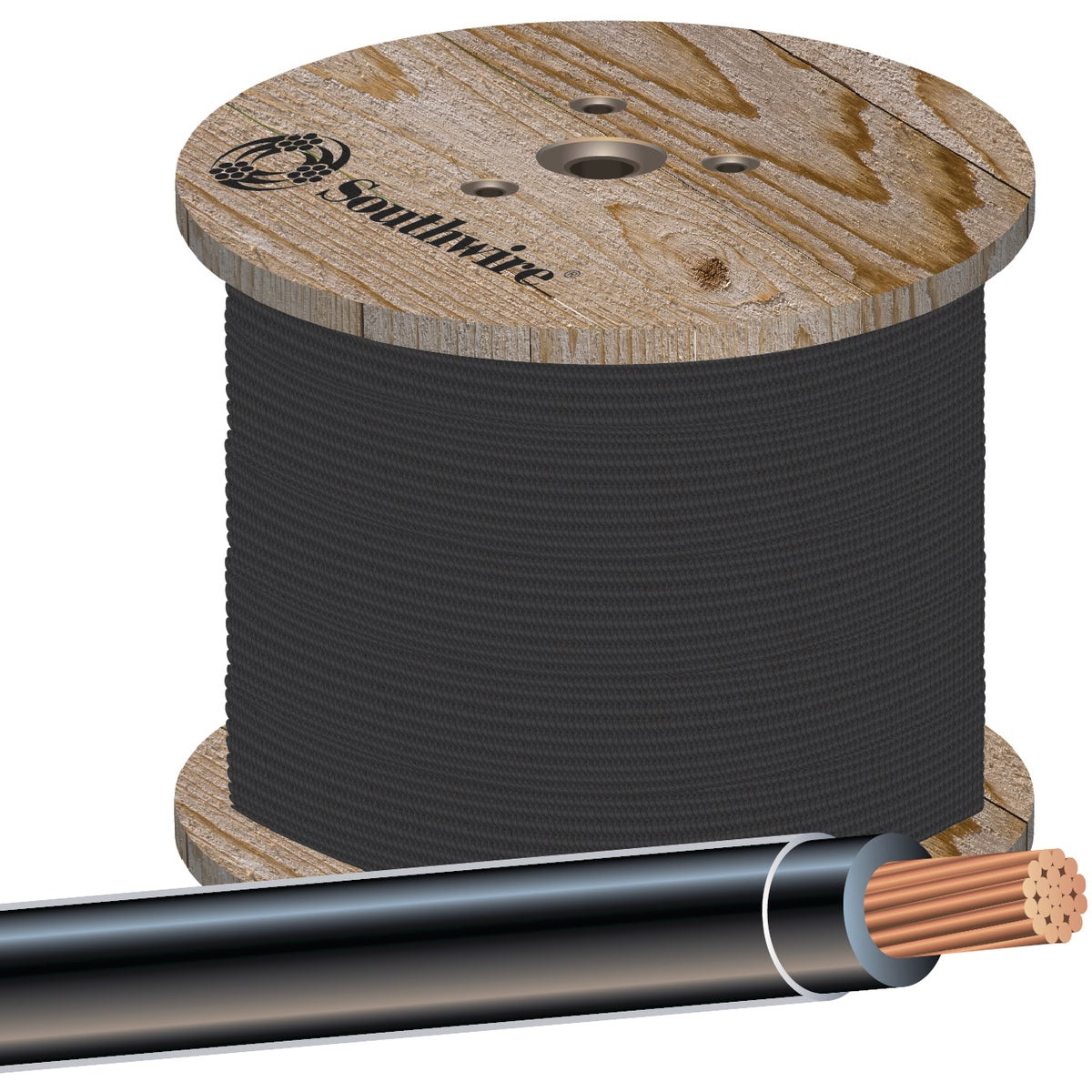 500' 3/0 BLK THHN WIRE - 20507002 by Southwire Company