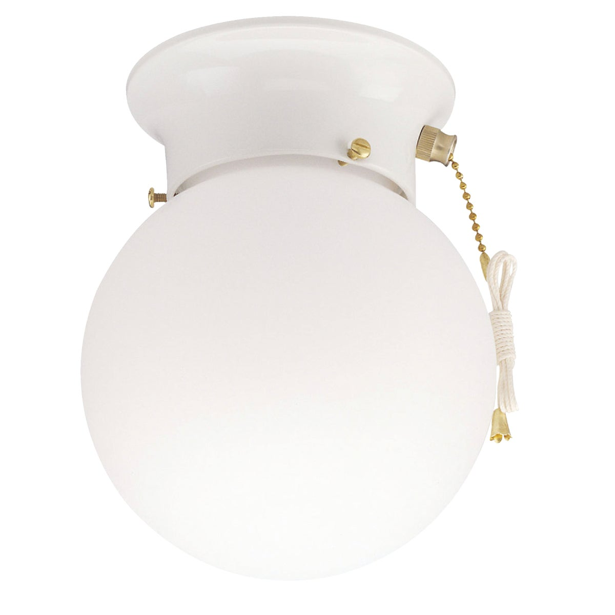 1BULB WHT GLOBE FIXTURE - ICL9WHW by Canarm Gs
