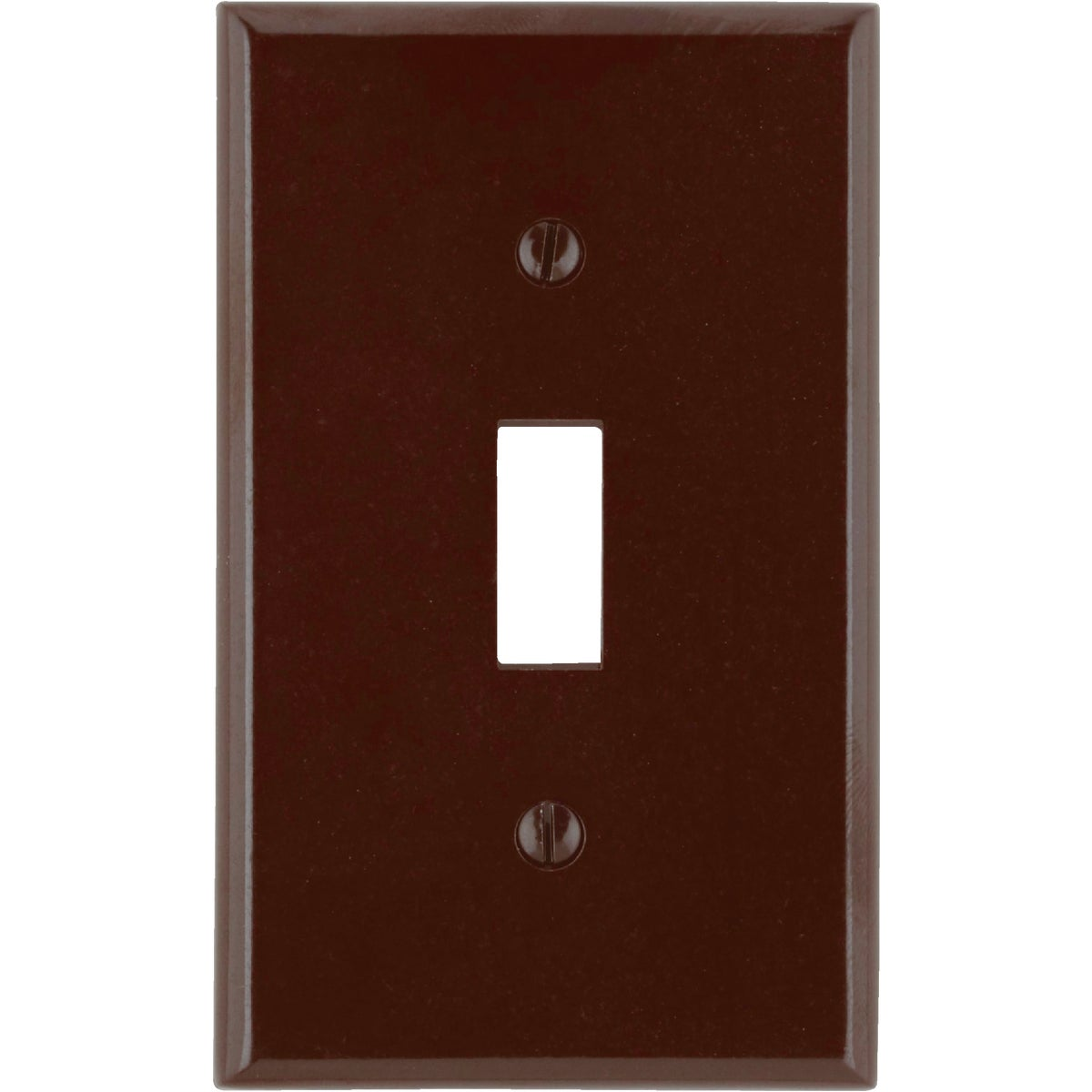 BRN 1-TOGGLE WALL PLATE - 85001 by Leviton Mfg Co