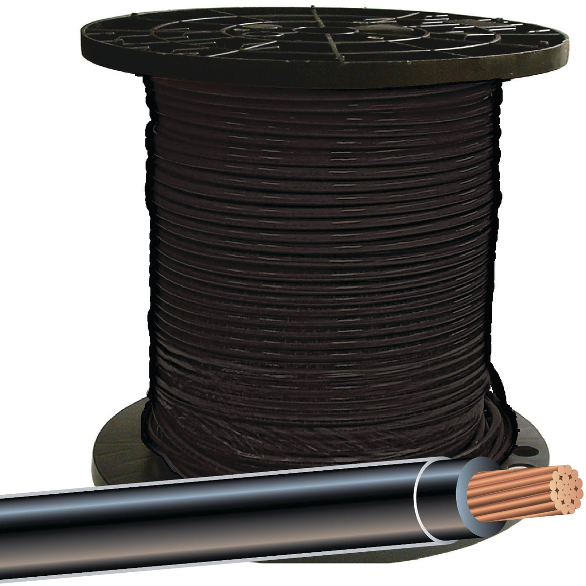 500' 6STR BLK THHN WIRE
