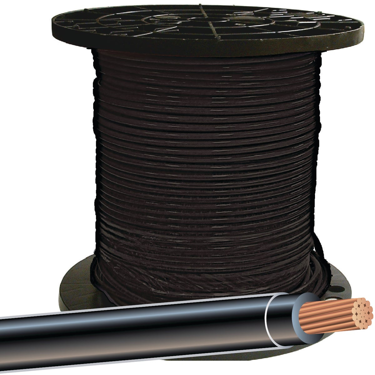 500' 8STR BLK THHN WIRE