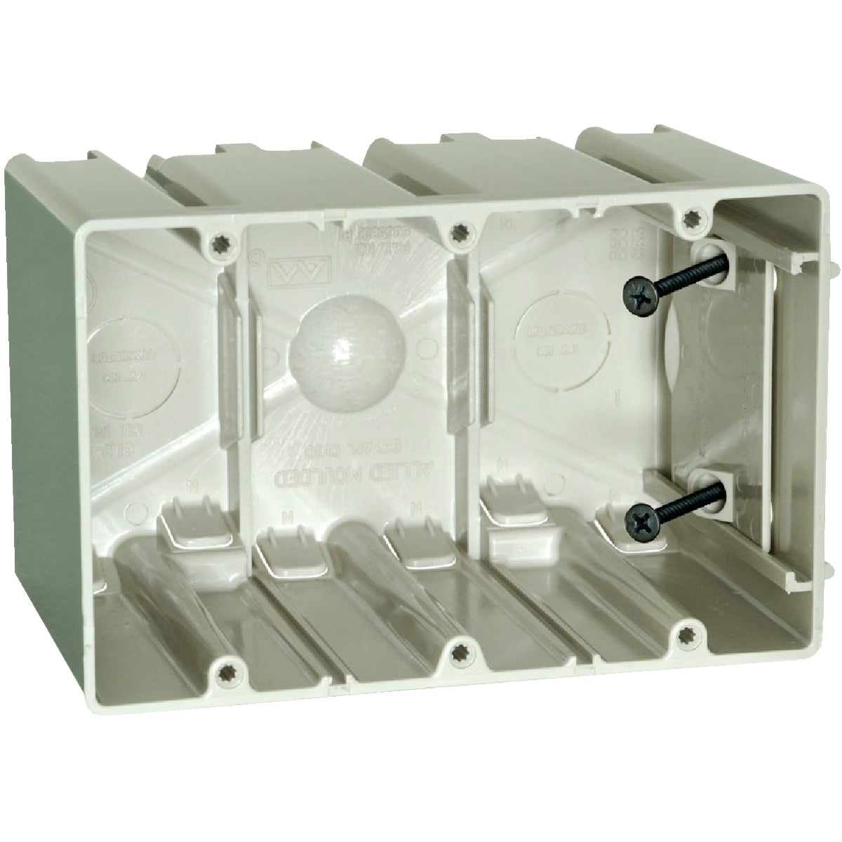 THREE GANG SLIDER BOX - SB-3 by Allied Moulded