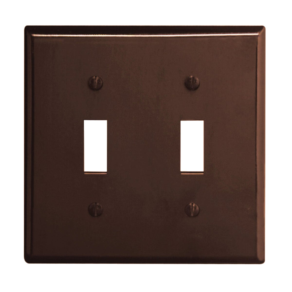 BRN 2-TOGGLE WALL PLATE - 85009 by Leviton Mfg Co