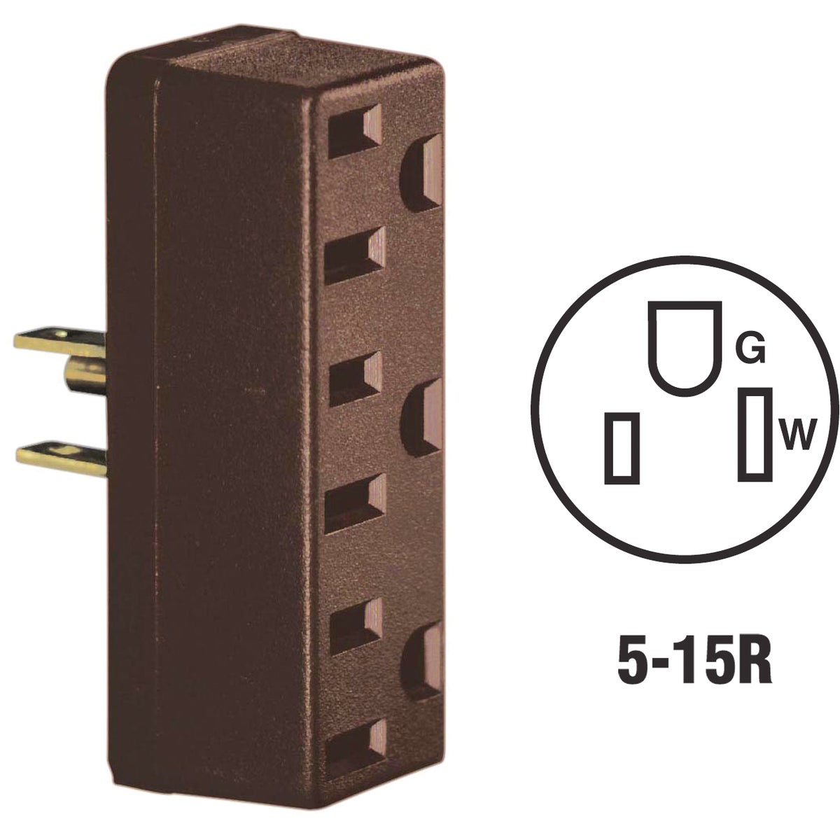 BRN GRND TRIPLE TAP - 005-697 by Leviton Mfg Co