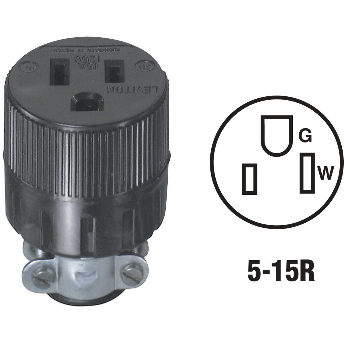 BLK CORD CONNECTOR - 617 by Leviton Mfg Co