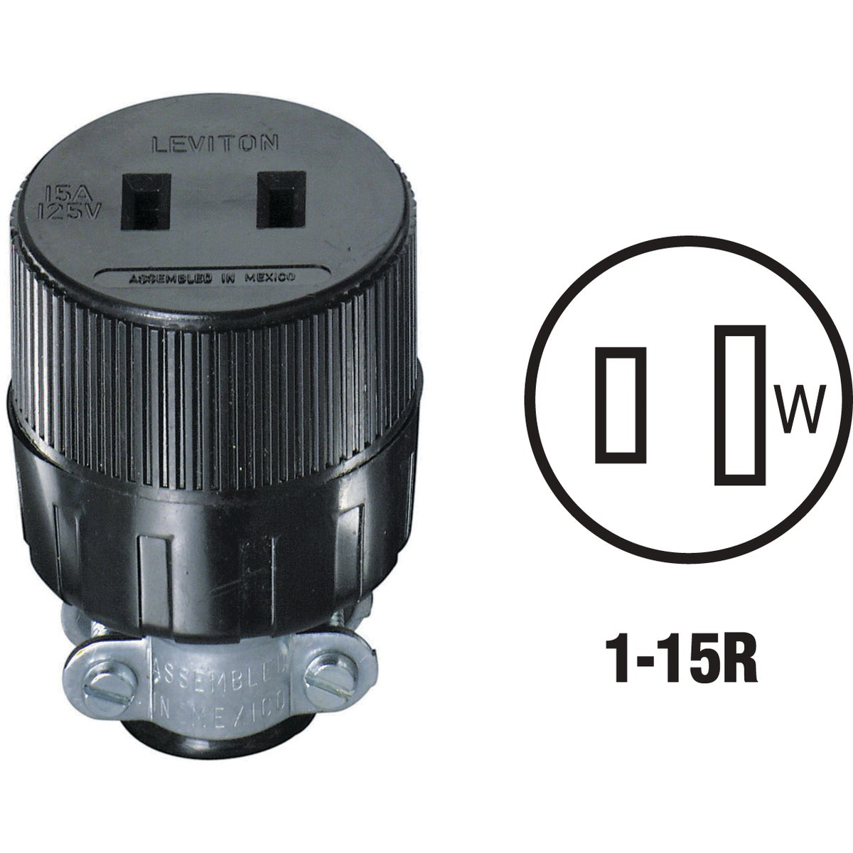 BLK CORD CONNECTOR - 612 by Leviton Mfg Co