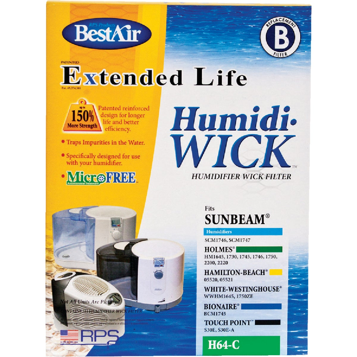 HUMIDIFIER WICK FILTER - H64-C by Rps Products Inc