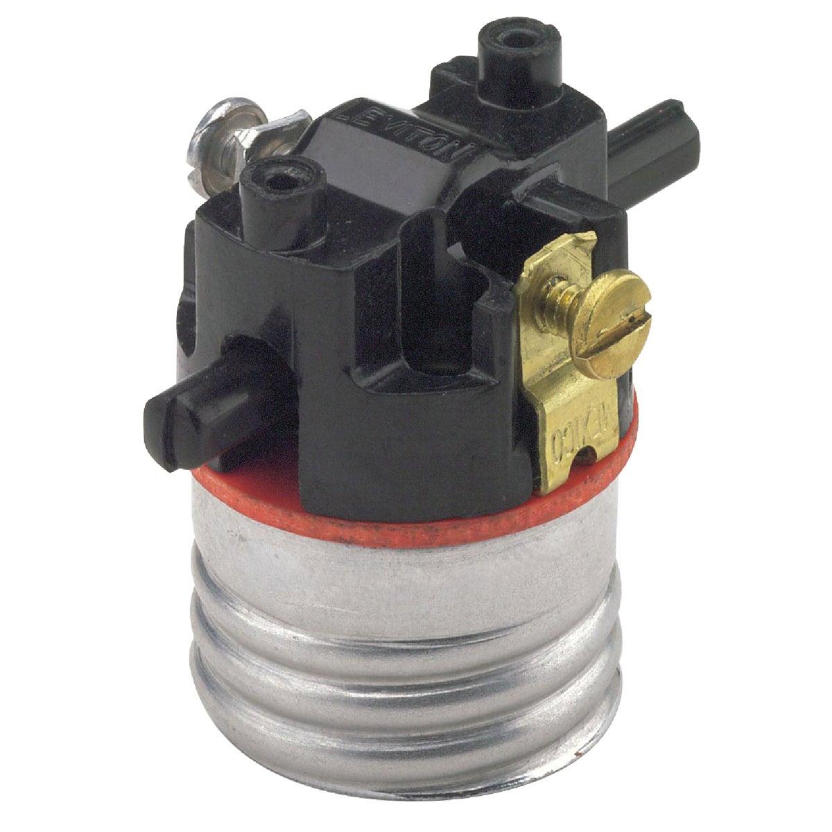 Do it Push-Through Medium Base Black Interior Lamp Socket