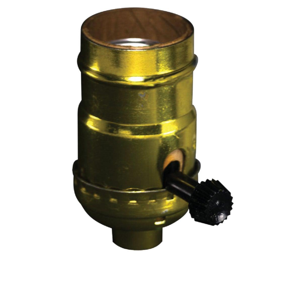 Do it Turn-Knob Medium Base Brass Lamp Socket