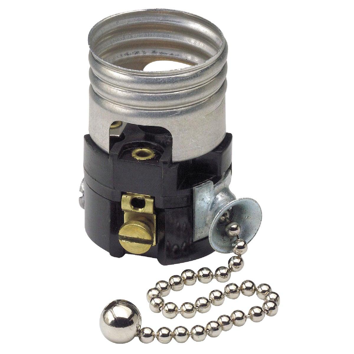 Do it Pull Chain Medium Base Black Interior Lamp Socket