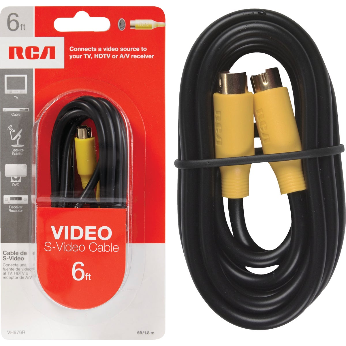 6' S-VIDEO CABLE - VH976R by Audiovox Accessories
