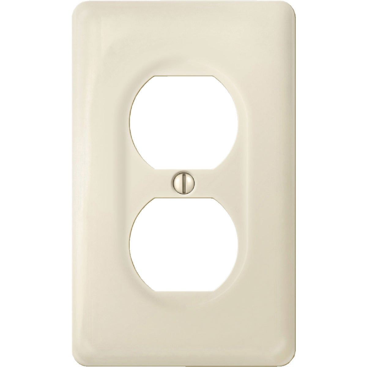 1DUP O BN/PORC WALLPLATE - 988BN by Jackson Deerfield Mf