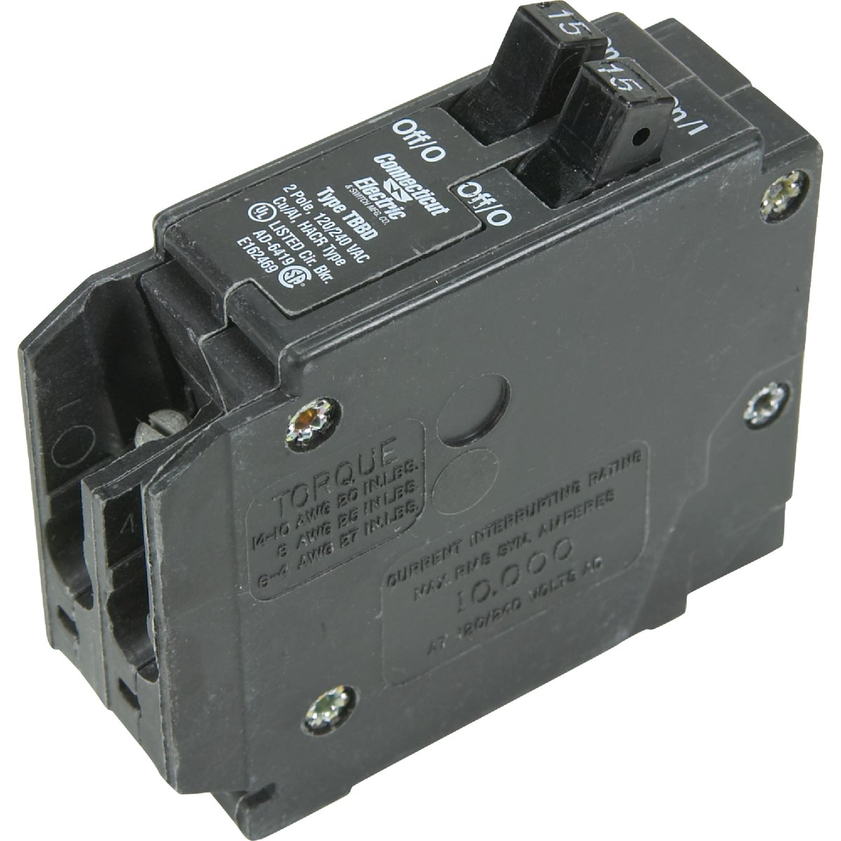 15A TWIN CIRCUIT BREAKER - ICBQ1515 by Connecticut Electric