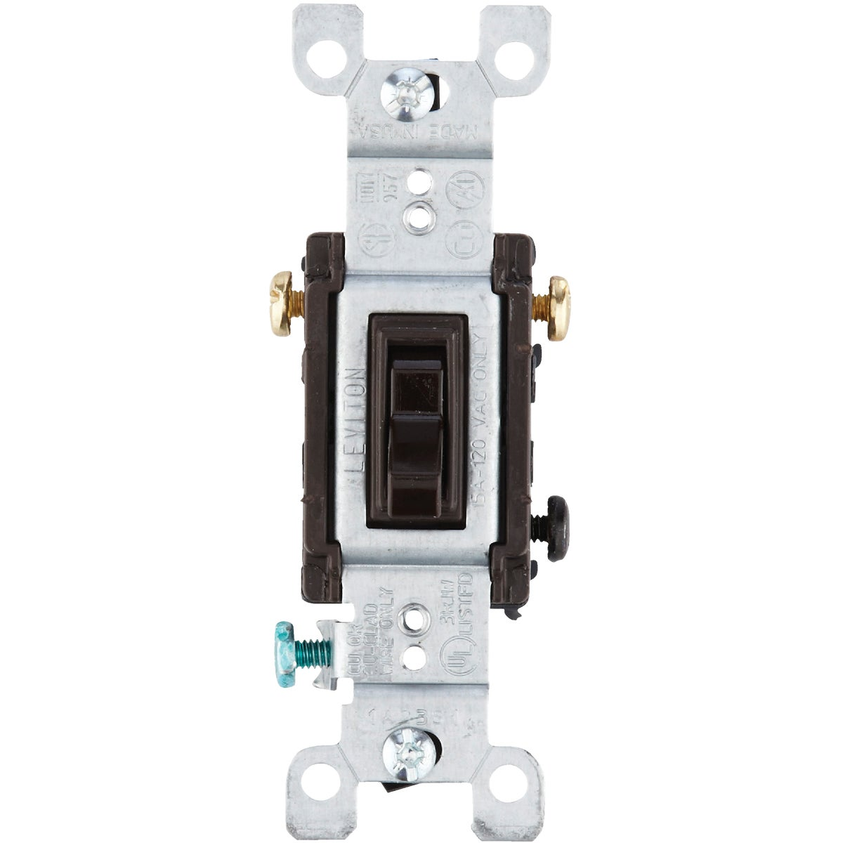 BRN 3-WAY GRND SWITCH - 215-1453-2CP by Leviton Mfg Co