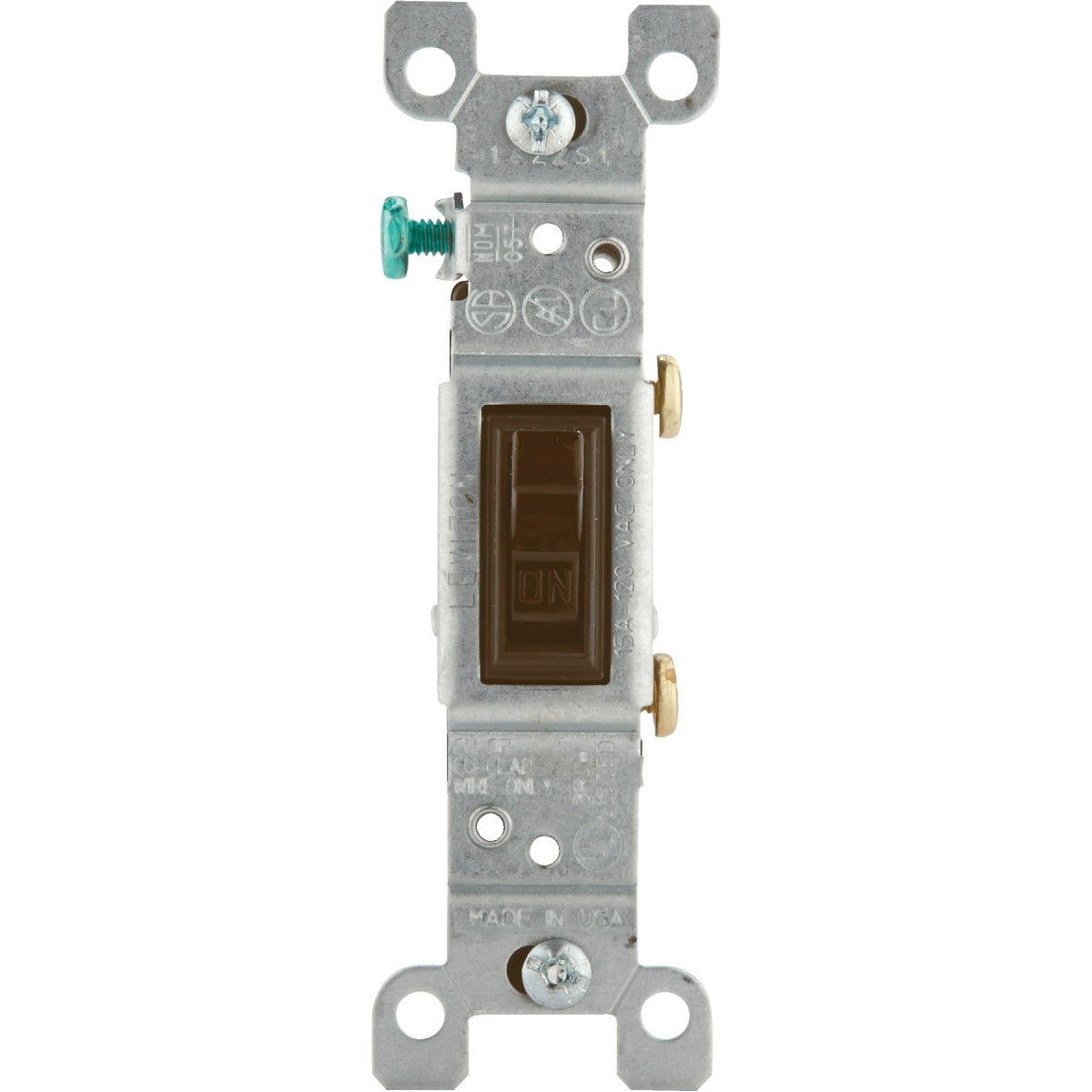 BRN 1POLE GRND SWITCH - 202-1451-2CP by Leviton Mfg Co