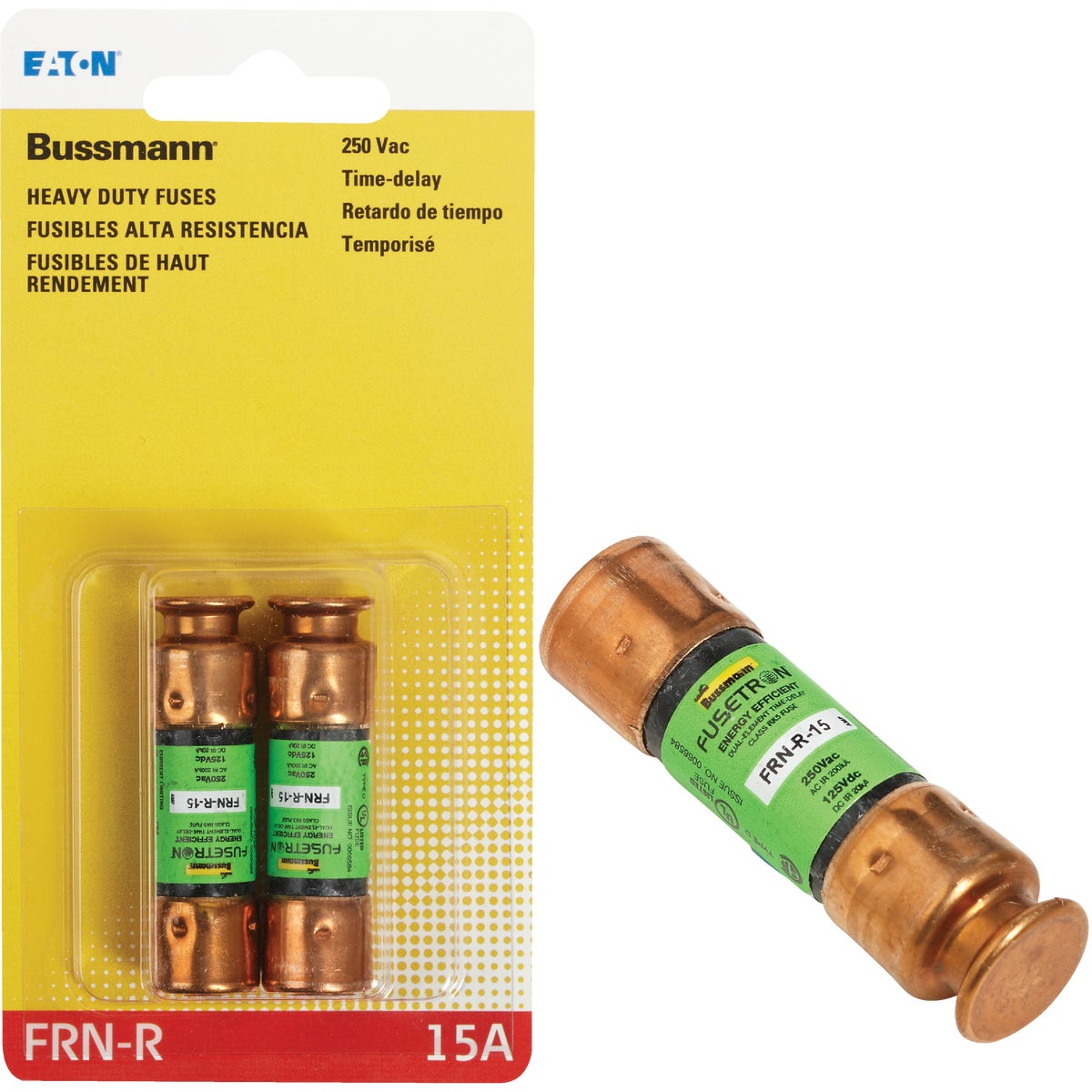 15A CARTRIDGE FUSE - BP/FRN-R-15 by Bussmann Cooper