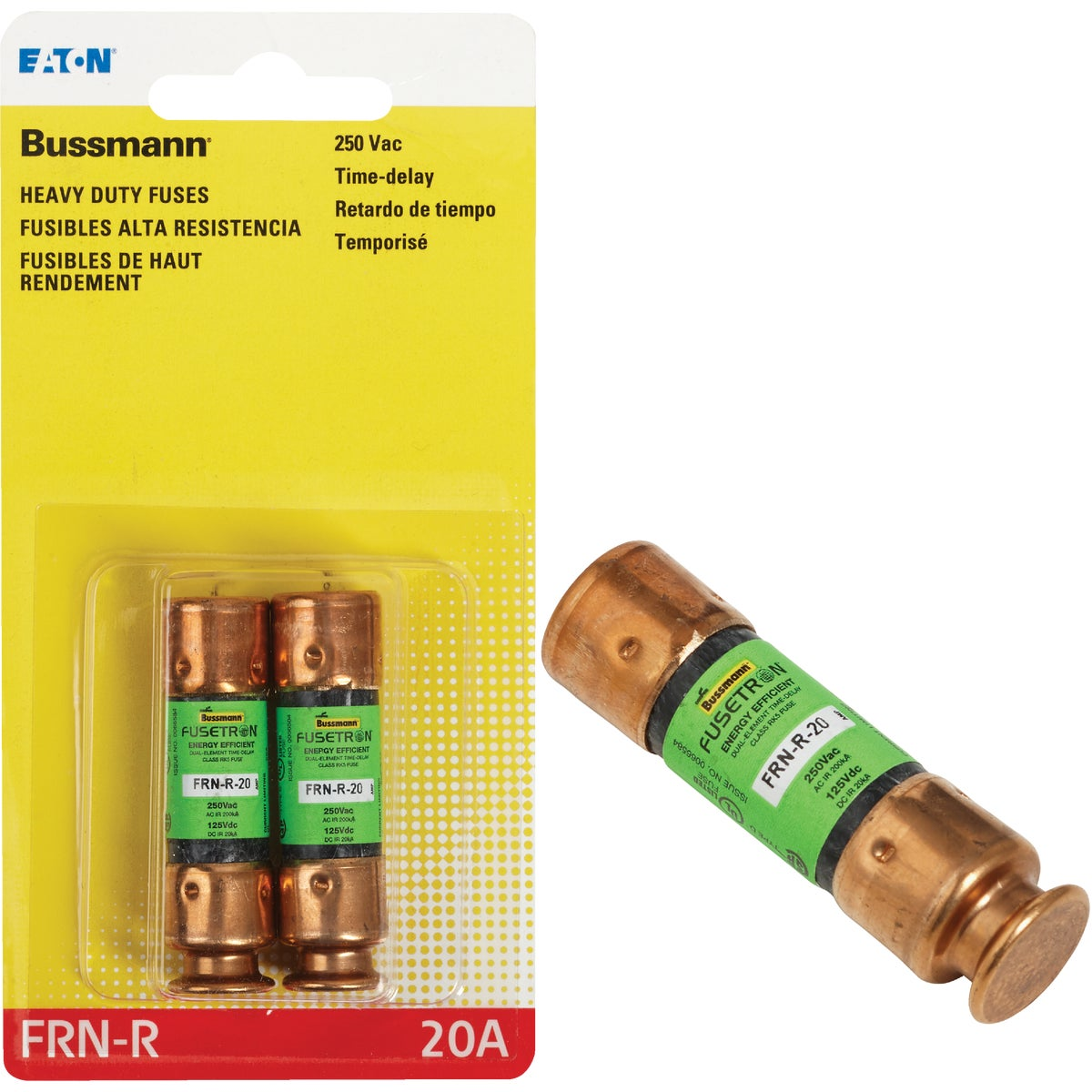 20A CARTRIDGE FUSE - BP/FRN-R-20 by Bussmann Cooper